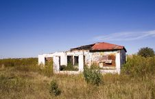 Derelict Farm House Royalty Free Stock Photos