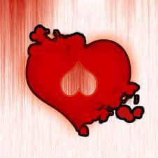 Heart In Heart Stock Image