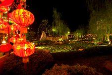 Lanterns At The Park Stock Image