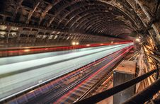 Free Train In Tunnel Subway Stock Photo - 49606220