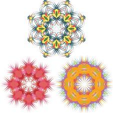 Mandala Round Pattern Set Vector Stock Photos