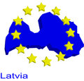 Free Contour Map Of Latvia Royalty Free Stock Photography - 4970467