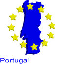 Free Contour Map Of Portugal Royalty Free Stock Image - 4970576