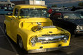 Free Yellow Hotrod Pickup Truck Stock Image - 4975091