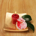 Free Candle And Camellia Stock Images - 4979454