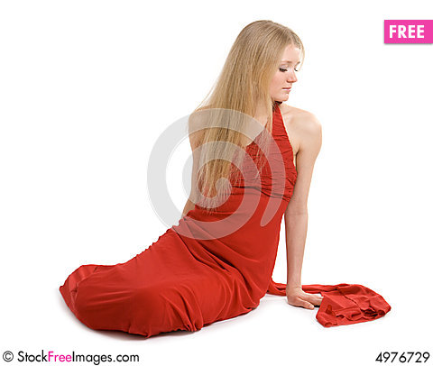 Attractive girl in cocktail dress Stock Photo
