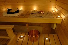 Free Interior Of A Finnish Sauna Royalty Free Stock Photos - 4970068