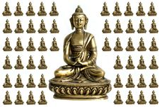 Free Buddha With Surrounding Miniatures Royalty Free Stock Photo - 4970305