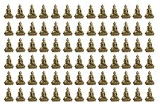 Free Small Buddhas On White Background Royalty Free Stock Photo - 4970315