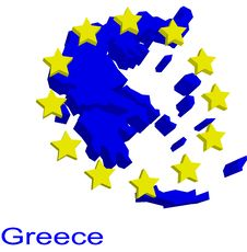 Free Contour Map Of Greece Stock Images - 4970424