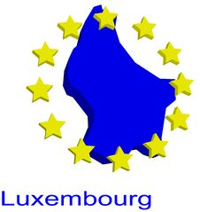 Free Contour Map Of Luxembourg Stock Photo - 4970490