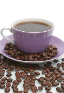 Free The  Cup With Fragrant Coffee Costs On A Table Royalty Free Stock Image - 4970506