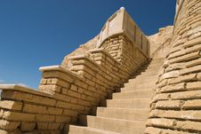 Free Mountain Stairs And Blue Sky Royalty Free Stock Photo - 4970575
