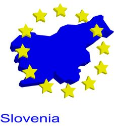 Free Contour Map Of Slovenia Royalty Free Stock Photo - 4970615