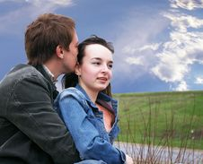 Free Guy And Girl On A Grass Stock Photos - 4971063