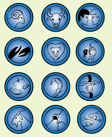 Free Zodiac Signs - Vector Royalty Free Stock Image - 4971616