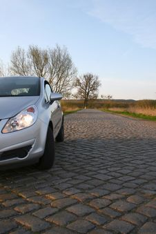 Free Silver Car On The Countryside Royalty Free Stock Photography - 4972367