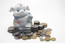 Free Piggy Bank. Stock Images - 4973054