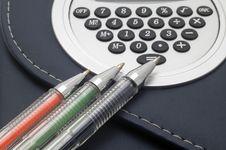 Free Coloured Pens. Stock Photos - 4973473