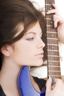 Free Lady With A Guitar Stock Photography - 4973602