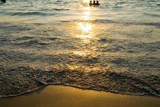 Free Sunset Surf Stock Photography - 4974012