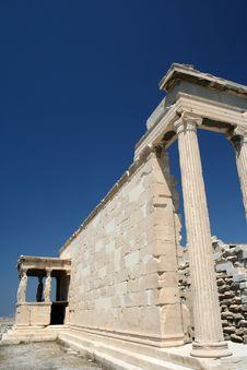Free Erechtheon Temple On Acropolis, Athens Royalty Free Stock Photo - 4974495