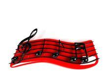 3D Music Symbol Royalty Free Stock Image