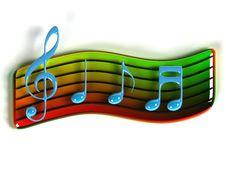 3D Music Symbol Stock Images