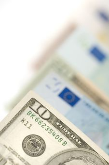 Free Dollars And Euros Royalty Free Stock Photo - 4975095