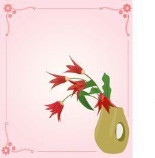 Flower And Vase Stock Image