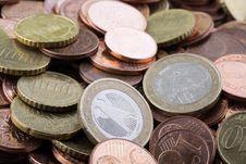 Free Euro Coins Royalty Free Stock Photo - 4975185
