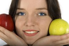 Free Two Eyes And Two Apples Stock Photo - 4975330