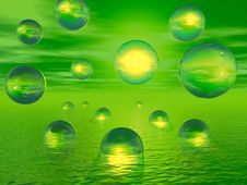 Free Water Balls Royalty Free Stock Photo - 4975595