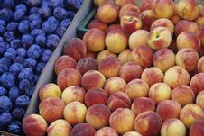 Plum And Peaches Royalty Free Stock Image