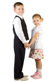 Smiling Girl And Boy Stock Photography