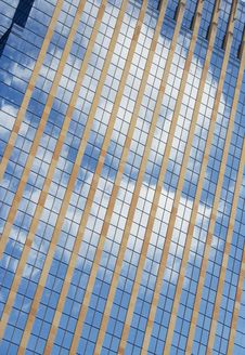Free Clouds Reflected Into Building Stock Photos - 4977083