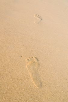Free Two Footprints Stock Image - 4977301