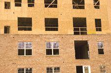 Free Plywood Over Brick Stock Image - 4977591