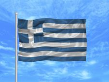 Free Greece Flag 1 Stock Images - 4978364