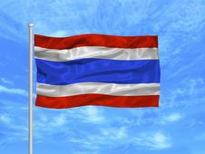Free Thailand Flag 1 Stock Photo - 4978370