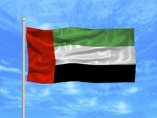 Free United Arab Emirates Flag 1 Stock Photography - 4978372