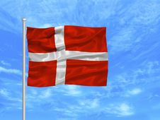 Free Denmark Flag 1 Stock Photography - 4978382
