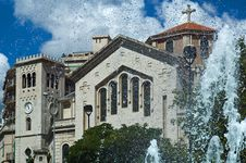 Free Church And Fountain Stock Images - 4978714