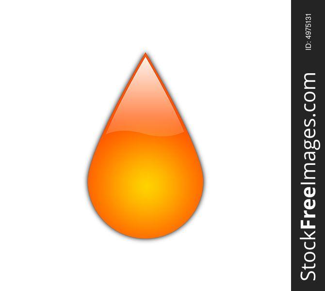 Glossy Orange Drop