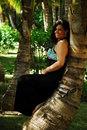 Free Woman Beneath The Palms Royalty Free Stock Image - 4982706