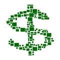 Free Green Dollar Royalty Free Stock Photo - 4984875