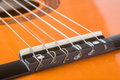 Free Acoustic Guitar Bridge And Strings Close-up Royalty Free Stock Images - 4985139