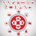 Free Button Icons Illustration Stock Photography - 4985242
