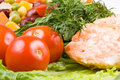 Free Stake From A Salmon With Vegetables Royalty Free Stock Photography - 4986177