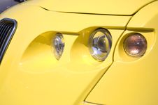 Free Close-up Of A Yellow Modern Car Stock Photo - 4980000